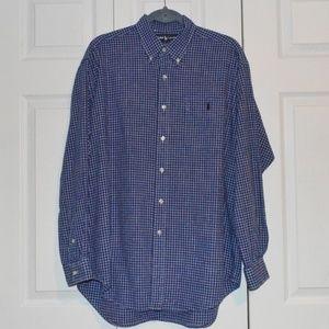 Ralph Lauren L Blake Blue White Check L/S Shirt